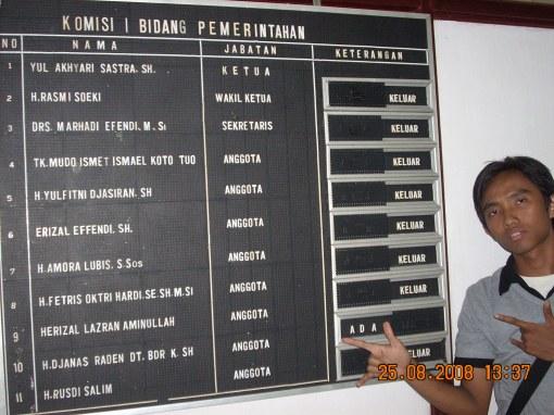 Bukti bahwa kantor rakyat KOSONG ditunjukan oleh seorang aktivis mahasiswa